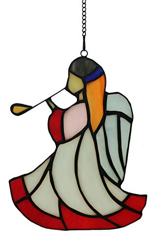 Alivagar Stained Glass Window Hangings Suncatchers Ornament Angel, 5