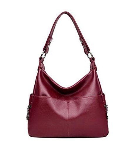 bag Bags Shoulder Wine 5 Red backpack 9 inch LXopr 1 Ms Crossbody 12 PU 2 4 wISTqT