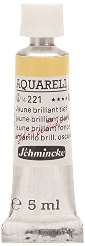 Schmincke 14221001 Artists Watercolors Jaune Brilliant Dark 5 ml Tube