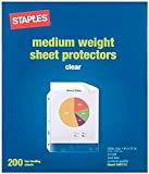 Top Loading 2.4 Mil Clear Sheet Protectors, 200 Count.