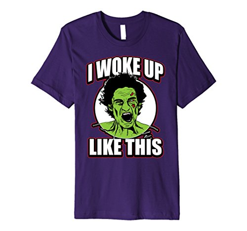 Mens Funny Cute Halloween I Woke Up Like This Zombie Scream Shirt Large (Scream Scarecrow)