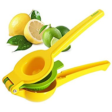 Hölm Limes and Lemon Squeezer - Manual Hand Held Orange Lime and Lemons Citrus Juicer - Lemon Water Maker - Fruit Wedge and Salad Dressing Tool – Orange Slice Presser – Iced Tea Lemonade Press