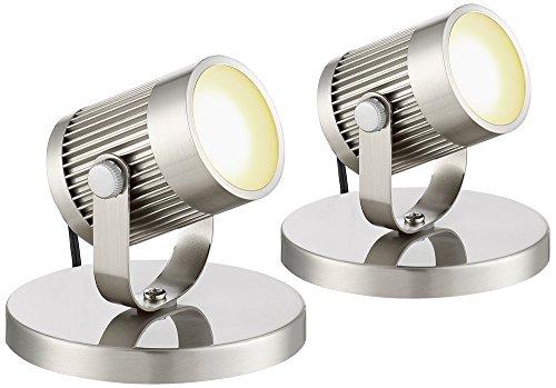 Downey Brushed Steel 2 3/4' H LED Uplight Set of 2