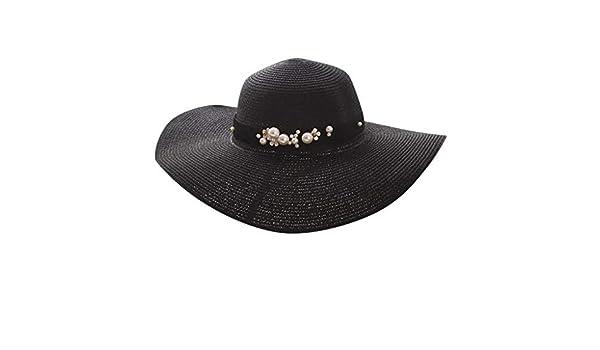 🌸MINXINWY Sombrero Paja de Mujer, Gorro de Pescador Sombrero de ...