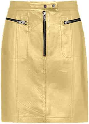 7fb3e0da90 Genuine Leather Custom Made Sexy Lady Knee Length Pencil Skirt Office Lady  Club Skirt #S25