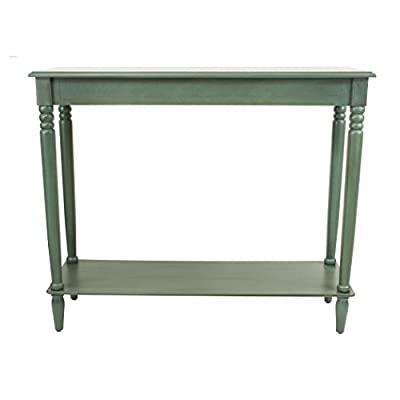 Décor Therapy FR1578 Simplify Large Console Table, Antique Teal - Antique Teal Finish Easy to assemble Size: 37.7W 11.8D 31.5H - living-room-furniture, living-room, console-tables - 41QikjDyqEL. SS400  -