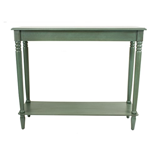 Décor Therapy FR1578 Simplify Console Table, Large, Antique Teal