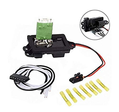 YLING HVAC Fan Blower Motor Resistor Kit With Harness for 04-07 Buick Rainier 02-09 Chevrolet Trailblazer GMC Envoy 04-08 Isuzu Ascender 02-04 Oldsmobile Bravada # RU377 3A1296 1581772 89019100