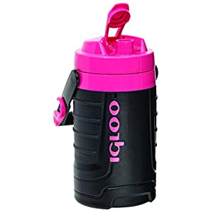 Igloo 1/2 gallon Insulated Hydration Jug, Black/Pink, 64 oz