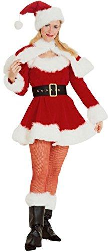 (Velvet Miss Santa Costume - Small - Dress Size)