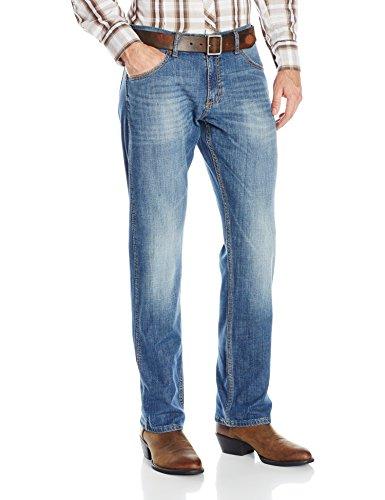 Wrangler Men's Retro Slim Fit Straight Leg Jean, Cottonwood, 34x32 (Best Fitting Jeans For Men Over 50)