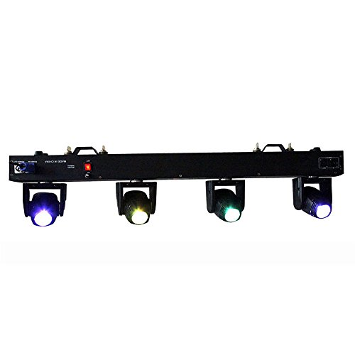 g LED Light 80W 4 Moving Heads DMX512 6/29 Channels RGBW 4in1 CREE for Club DJ Disco Home Garden Party Wedding Effect ()