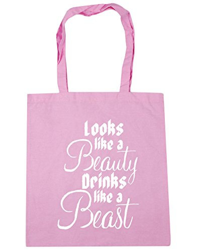 Gym 10 beauty x38cm Pink Tote drinks a Bag litres Beach Classic 42cm a HippoWarehouse like like Shopping beast Looks xgc4tZv