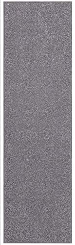 (Home Queen Solid Grey Color Custom Size Runner 4' x 12' - Area Rug)