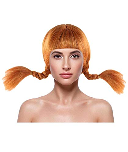 Wig for Cosplay Pippi Braid Wig