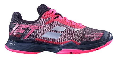 Babolat Women's Jet Mach II Clay Court Tennis Shoes, Pink/Black (Size 9.5 US) ()