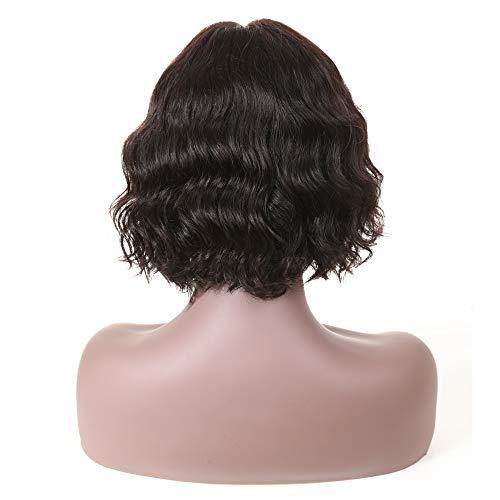 Amazon.com: Short Human Hair Wig For Black Women, UDU Lace Frontal wig 10inch Middle Part Short Wavy Wigs, Brazilian Body Wave Lace Wigs: Beauty