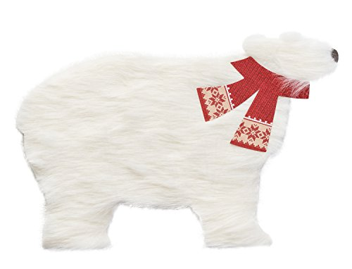 American Greetings Polar Bear Christmas Card with Fur