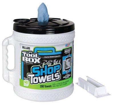 Sellars limpiaparabrisas & sorbentes 5520801 azul dispensador de toallas de tienda de, gran agarre cubo