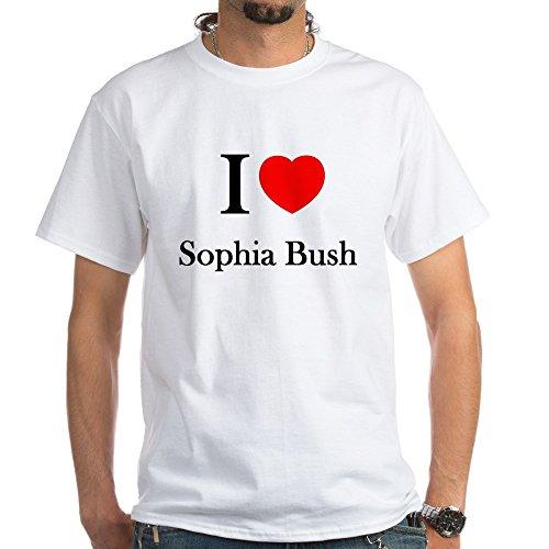 CafePress I Love Sophia Bush T-Shirt - 100% Cotton T-Shirt, - Bush Clothes Sophia