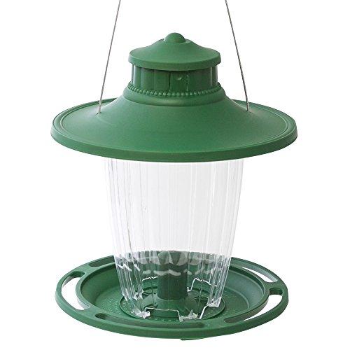 Stokes Select Bird Feeder, 5 Feeding Ports, 3.8 lb Bird Seed Capacity, Lantern-Style Wild Bird Feeder, Green - -
