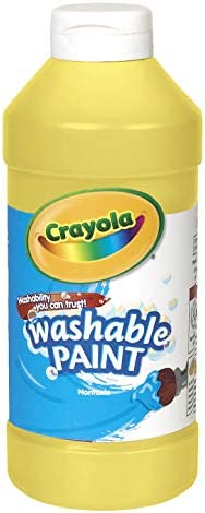 Crayola Yellow Washable Paint, Kids Painting Supplies, Paint Bottle, 16oz (54-2016-034), Pint