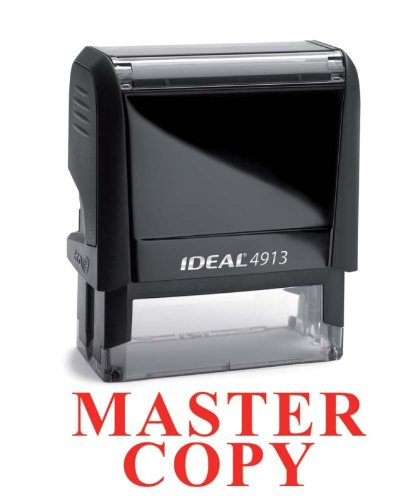 NEW Trodat Best Selling Red Office Self-Inking Stock Rubber Stamp - MASTER COPY