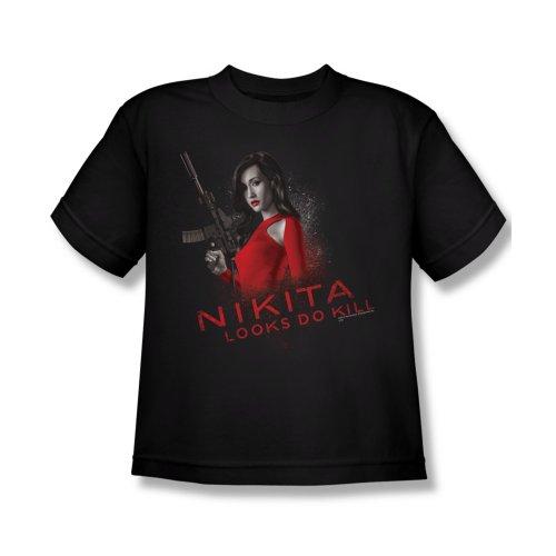 Nikita Looks Do Kill Kids T-Shirt Large Black