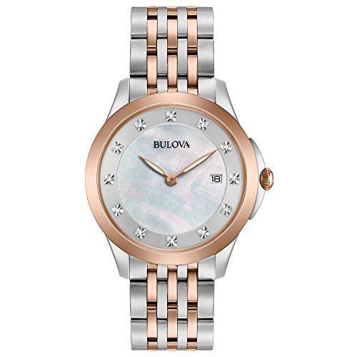 Bulova Diamond Accent Watch (Bulova Women's 98P162XG Quartz Diamond Accent 36mm Watch (Certified Refurbished))