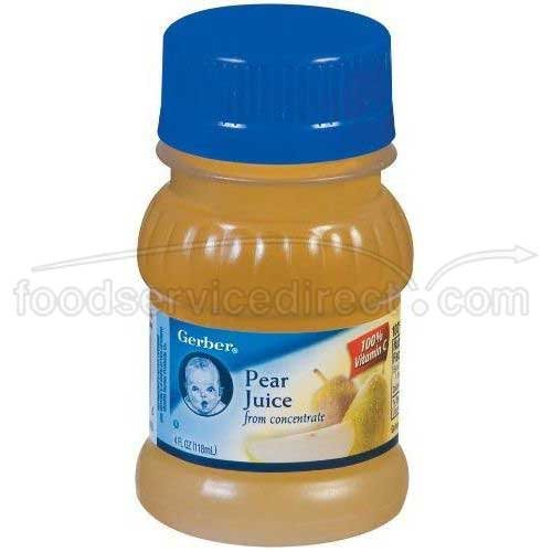 Gerber 100 Percent Pear Juice, 4 Fluid Ounce -- 24 per case.