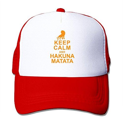 [Keep Calm And Hakuna Matata Mesh Trucker Cap] (Rafiki And Simba Halloween Costume)