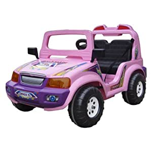 6V Double Seater Electric Touring 12V Battery Powered Jeep Color: Lilac
