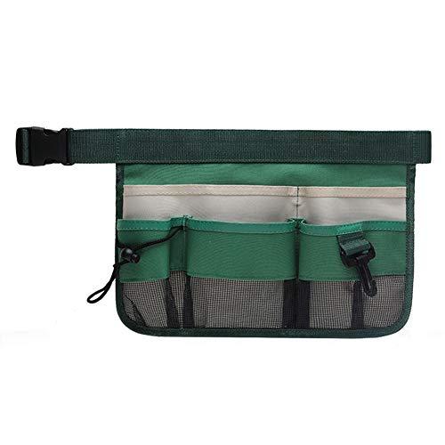 elegantstunning Tool Bag Small Tool Organizer Multi-Purpose Waist Bag Pouch Carrying Case for Handyman Cleaner Waiter BLD-003 Green