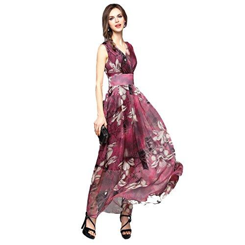 Joy-EnvyLand-Women-V-neck-Flower-Prom-Party-Tunic-Long-Cocktail-Beach-Dress