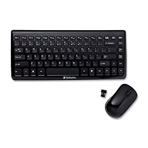 verbatim mini wireless slim keyboard and mouse black 97472 electronics. Black Bedroom Furniture Sets. Home Design Ideas