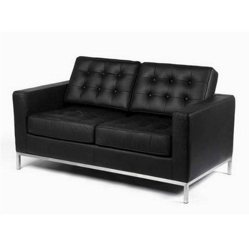 CC-6112-2 piel Florence Knoll estadistico 2 plazas asiento ...