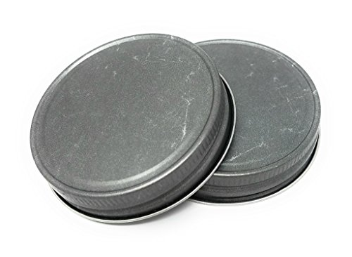 Nika's Home Jelly or Mason Jar Lid - 12 pack - G70 CT (Pewter)