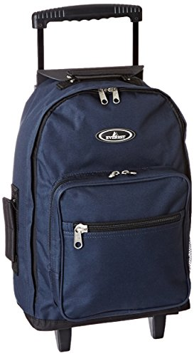 Everest Wheeled Backpack - Standard, Navy, One Size - Navy Small Rolling Luggage