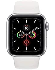 Apple Watch Series 5 - 40mm Silver Aluminium Case with White Sport Band, GPS, watchOS 6, MWV62AE/A