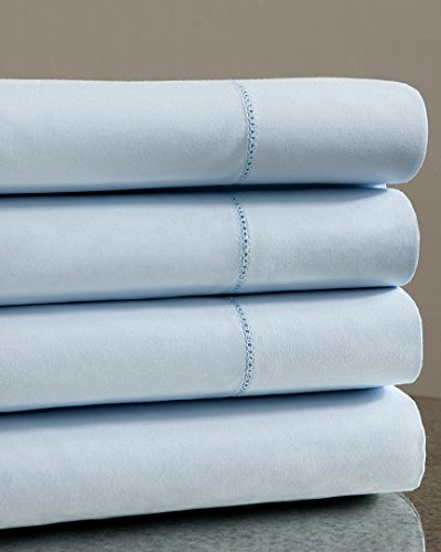 Notte by Bellino Solid Hemstitch Sheet Set, Queen Sheet Set ()