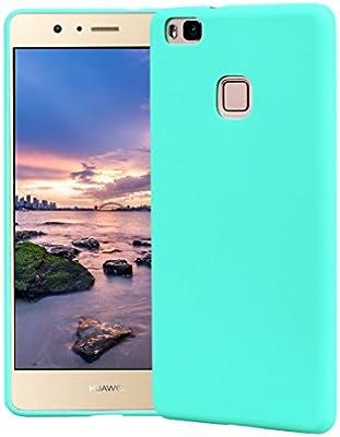 Funda HuaWei P9 Lite, Carcasa HuaWei P9 Lite Silicona Gel, OUJD Mate Case Ultra Delgado TPU Goma Flexible Cover para HuaWei P9 Lite - Azul cielo