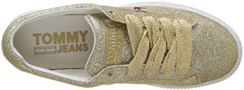 Scarpe gold 903 Donna Sneaker Da Oro Jeans Tommy Glitter Basse Ginnastica Denim Hilfiger SpXUww