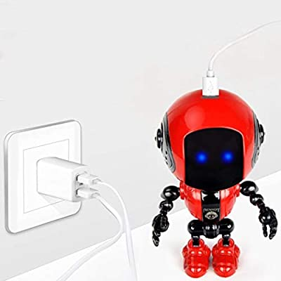 Dozenla Mini Alloy Robot Toy Lighting Voice Smart Induction Joint Children Gift Remote- & App-Controlled Figures & Robot: Home Improvement