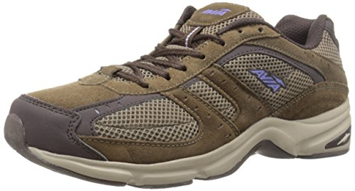 AVIA Women's Volante Country Walking Shoe,Shitake Brown/Espresso Brown/Violet Blaze/Stone Taupe,8.5 D US