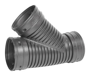 Advanced Drainage Systems 0622AA Corrugated Singlewall Pipe Wye, - Pipe Fittings Corrugated