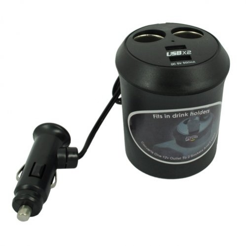 Selna Car Cup Holder Charger Splitter with Dual Charging ...