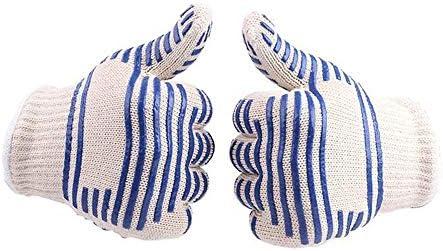 ガーデニング用手袋 バーベキュー絶縁高温耐性手袋熱いオーブンオーブン綿手袋安全な手袋 園芸 採掘 植栽 枝切り 防護手袋
