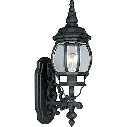 Progress Lighting P5878-31 1-Light Wall Lantern with Clear Beveled Glass, Textured (Onion Outdoor Wall Mount Lantern)