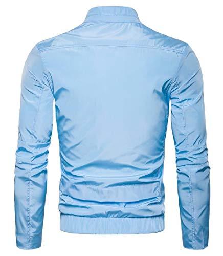 Collar 2 Sleeve Jacket Long Men's Front Windbreaker Zip EKU Lightweight Stand q0Zvw6