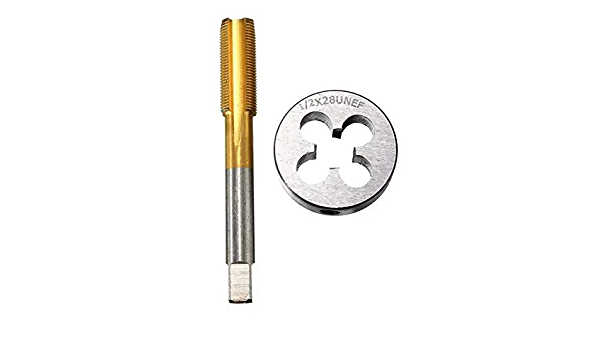 "1//2/""-28 Tap /& Die Set Titanium Coated Right Hand Thread Hand Tap Cutting Tool"